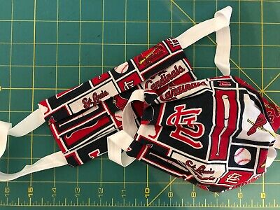 St- Louis Cardinals handmade 100 cotton face mask 2-layers washable