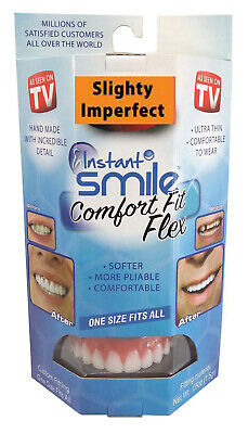 Instant Smile Comfort Fit Flex-Slightly Imperfect White One Size fits Most
