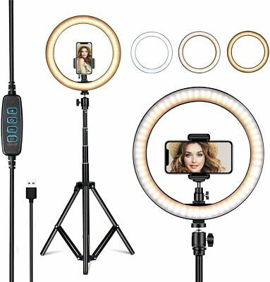 10 8 Selfie Ring Fill Light with Tripod Stand Ringlight for Live Stream Makeup