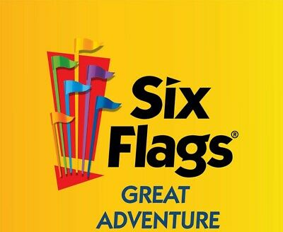 SIX FLAGS GREAT ADVENTURE Child ONE DAY Ticket valid during 2020 season