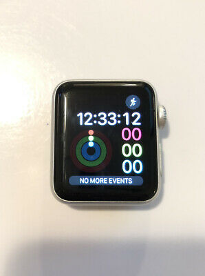 CRACKED Apple Watch Series 3 38mm Silver Aluminum Case - Silver MQKU2LLA