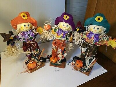 Fall Halloween Thanksgiving Scarecrows Table Top Decorations