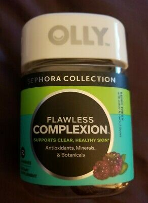 BRAND NEW SEALED Sephora Olly Flawless Complexion 50 Gummies 1120 antioxidants
