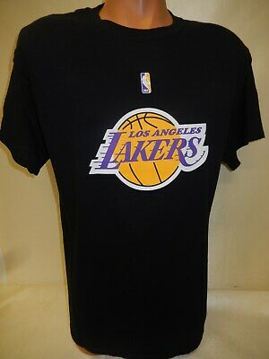 0405 MENS NBA LOS ANGELES LAKERS Team Logo Basketball Jersey SHIRT New BLACK