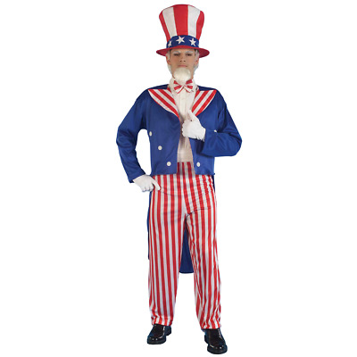 Uncle Sam Adult Costume USA United States America Red White Blue Patriotic