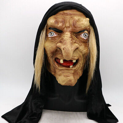 Halloween Latex Scarf Scary Horror Witch Mask Haunted House Party Props Hot