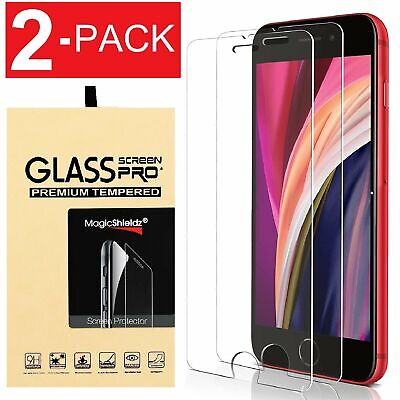 2-Pack Tempered GLASS Screen Protector For iPhone SE 2020