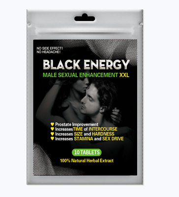 10 Pills Black Energy Male Enhancement Herbal Sex pill Free Shipping