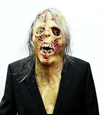 Zombie Halloween Mask Walking Zombie Rotting Dead Decaying Latex with Chest