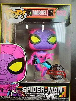 Funko Pop Spiderman Black Light Target Exclusive in Hand MINT