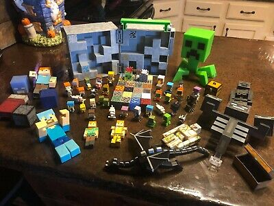 Minecraft Lot Figures and Minifigures- 70- pieces