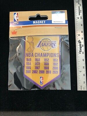 NEW 2020 Los Angeles Lakers 17X NBA Champions Banner Magnet - LeBron Kobe Shaq