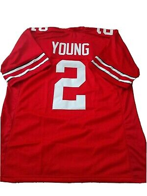 New CHASE YOUNG Ohio State Red College Custom Stitched Football Jersey Mens