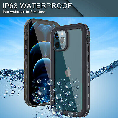 For iPhone 12 Pro MaxProMini Waterproof Case Cover Built-in Screen Protector