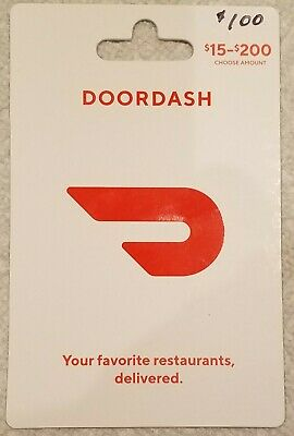 Doordash 100 gift card - Free shipping