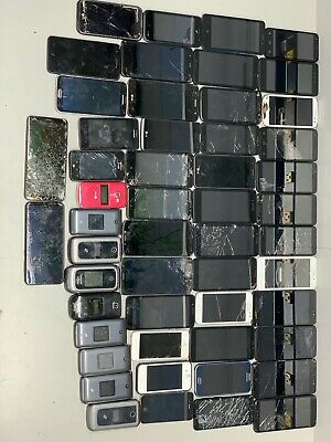 LOT OF 52 CELL PHONES SAMSUNG LG MOTOROLA ZTE - iPHONE FOR SALVAGE PARTS