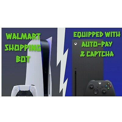 Walmart Shopping Bot For PS5 Xbox Series X - More