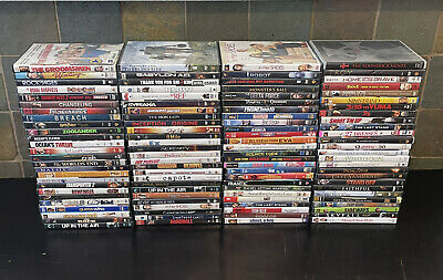 Lot of 100 Used ASSORTED DVD Movies 100 Bulk DVDs Used DVDs Lot Wholesale FAST