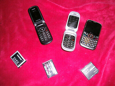 3 old cell phones for parts
