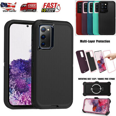 For Samsung Galaxy S20- FE S20 Ultra Rugged Case Cover Belt Clip Fits Otterbox