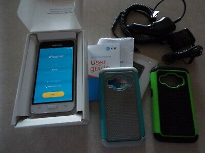 AT-T Galaxy Express 3 Smart Phone8 GB 2 casesUser GuideChargersOriginal Box