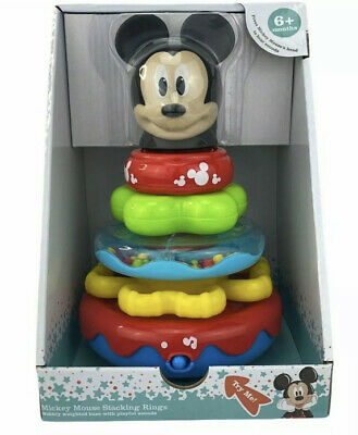 Disney Baby Mickey Mouse Musical Stacking Rings 6 months - Toddler Toy NEW