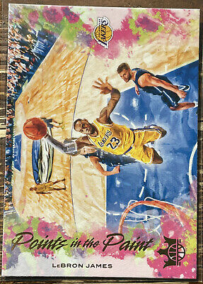 LeBron James 2019-20 Court Kings Points in the Paint Insert 13
