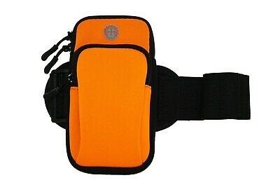 Universal Cell Phone Armband Neoprene Case Pouch for iPhone Sports Holder Orange