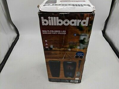 Open Box Billboard BB2716 Multi-Colored LED Wireless Party Speaker  -J8245