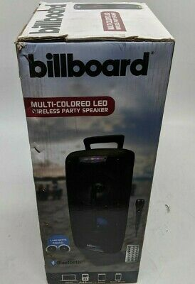 New Billboard BB2716 Multi-Colored LED Wireless Party Speaker  -J8246
