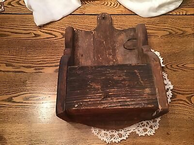 Primitive Wood Hanging Wall Cubby