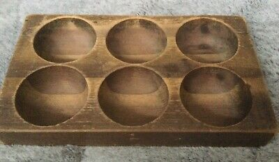 Primitive Vintage 6 hole wood sugar butter cheese mold