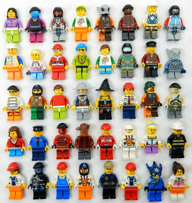 10 NEW LEGO MINIFIG RANDOM LOT mystery figure minifigure city town space female