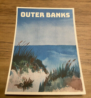 Outer Banks Water Color Beach Sticker Made On The OBX