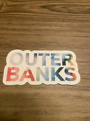 Outer Banks Water Color Sticker Made On The OBX