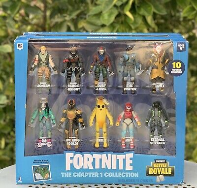 FORTNITE The Chapter 1 Collection Battle Royale 10 Figures Pack Set Epic Games