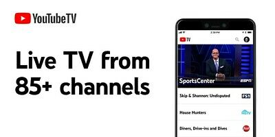 YouTube TV License - 80- ch -Live  Unlimited DVR  1 month - only USA