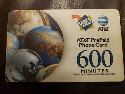 AT-T Prepaid Phone Card with 403 Minutes Remaining