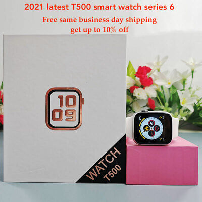 2021 Latest Smart Watch T500 series 6 BT call blood pressure heart rate