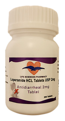 300 or 600 Anti-Diarrheal 2mg Tablets by Life Sciences - Same Day Shipping