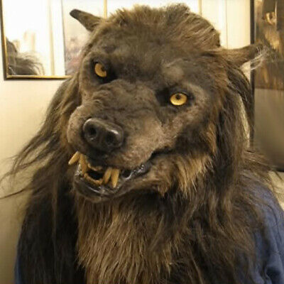 Halloween Latex Scarf Scary Wolf Dog Horror Witch Mask House Party Props