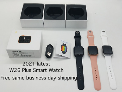 2021 latest W26 plus smart watch series 6 IOS Android ECG Body Temp US Seller