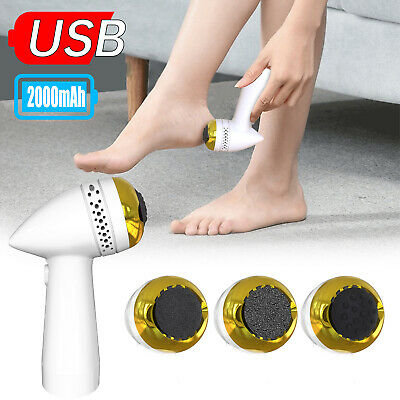 Rechargeable Electric Foot File Grinder Callus Dead Skin Remover Pedicure Machin