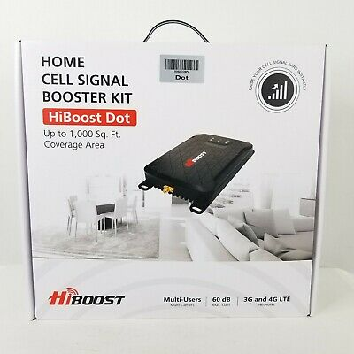 HiBoost Dot 3G 4G Cell Signal Booster Kit New Open Box