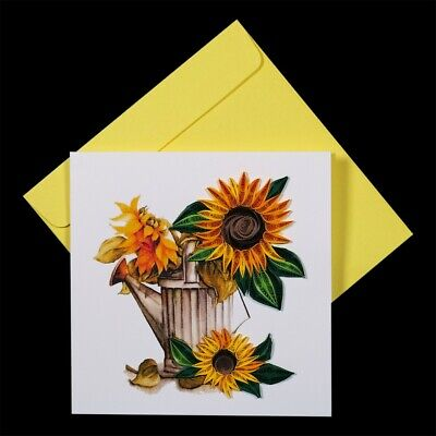 MOTHER DAY  - HANDMADE - QUILLING CARDS - QUILLED CARDS - SUN FLOWERS