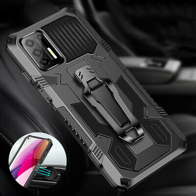 For Samsung Galaxy A32  A42 5G Belt Clip Phone Case - Tempered Glass Protector