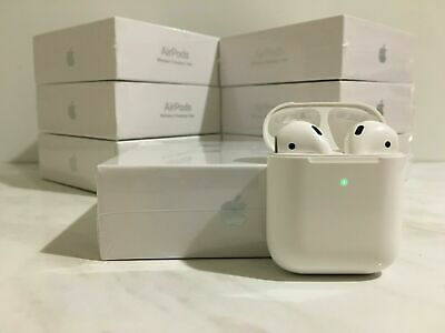 White Airpods 2nd Generation With Wireless Charging Case In-Ear Headphones