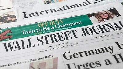 Wall Street Journal  1-YEAR Paper Print - Digital Subscription iOSAndroidPC