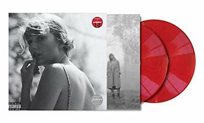 Very Good TAYLOR SWIFT - Folklore - Double Red Colored Vinyl LP Set