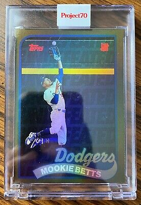 2021 Topps Project 70 Mookie Betts 132 by UNDEFEATED Rainbow Foil 5670
